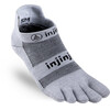 Injinji Run Xtralife Lightweight No Show Socks Men gray